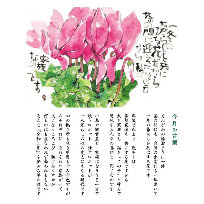 124号(2019.12)シクラメン/篝火花