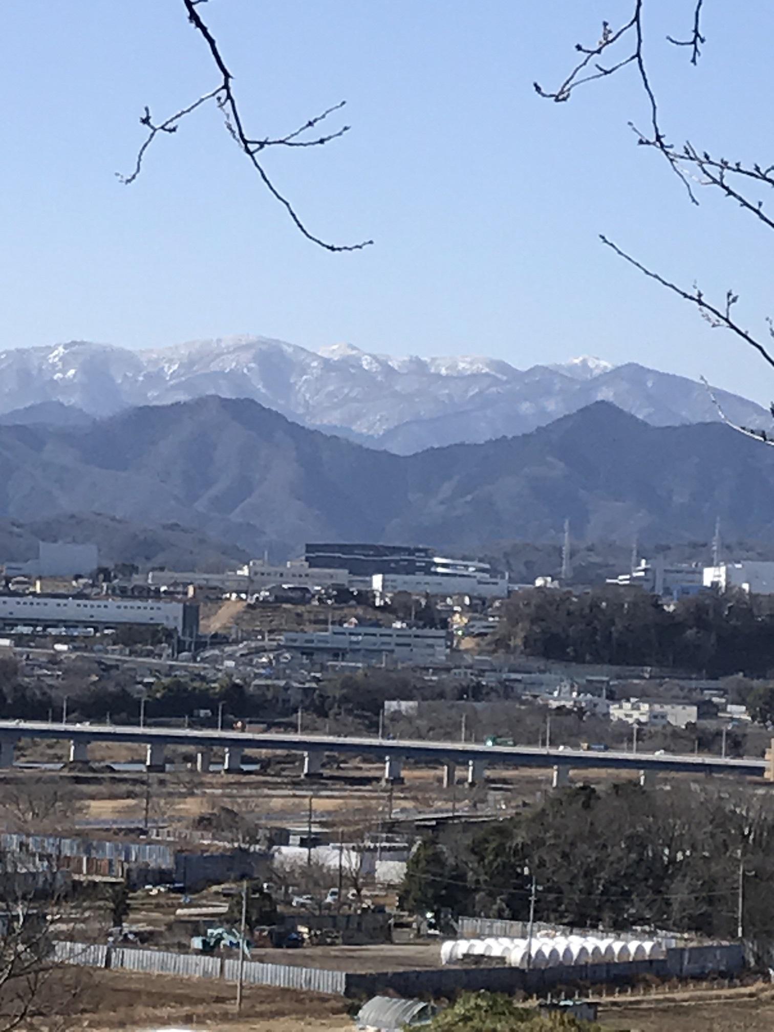 丹沢の山並みも白く染まりました
