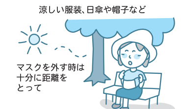 コロナ禍でのワンポイント熱中症予防